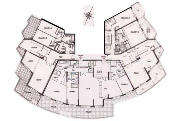 MONACO JARDIN EXOTIQUE PATIO PALACE : 3 APPARTEMENTS A RÉUNIR