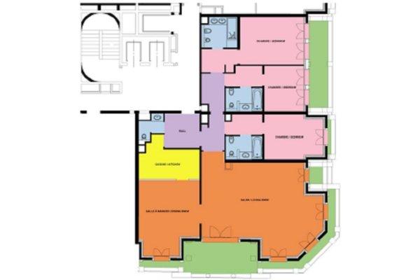 RESIDENCE METROPOLE 5 PIECES 275,50 m² AVEC CAVE ET 3 PARKINGS