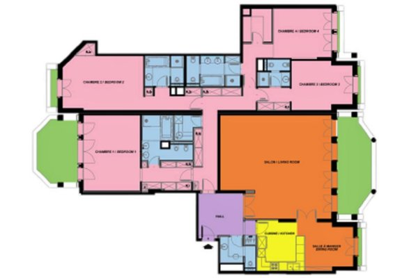 RESIDENCE METROPOLE 6 ROOMS 325,80 m² WITH CELLAR AND 4 PARKINGS