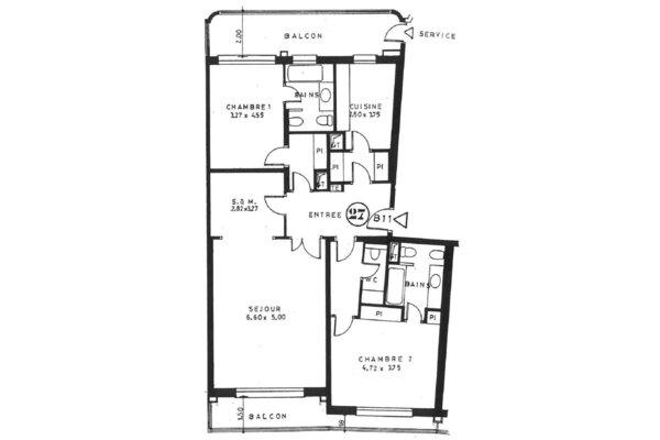 ROC FLEURI SPACIEUX 3 PIÈCES 174 m² CAVE ET 2 PARKINGS